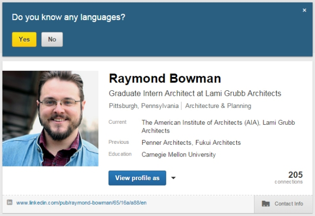 LinkedIn_yes language
